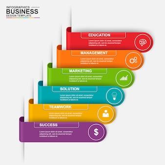 Streszczenie 3d cyfrowy biznes etykieta infographic