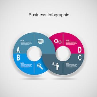 Streszczenie 3d cyfrowy biznes marketing infographic.