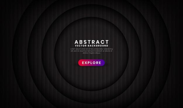 Streszczenie 3d czarne tło nakładają się warstwy z wzorami paski