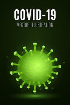 Streszczenie 3d korony drobnoustrojów wirusowych. pojęcie medyczne. organizm patogenny. ilustracja