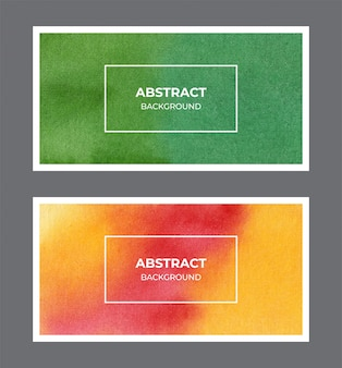 Streszczenie akwarela baner tekstura tło kolekcja