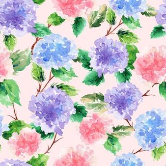 Streszczenie akwarela kwiatowy wzór