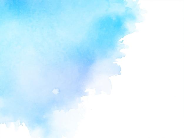 Streszczenie akwarela miękkie niebieskie tło