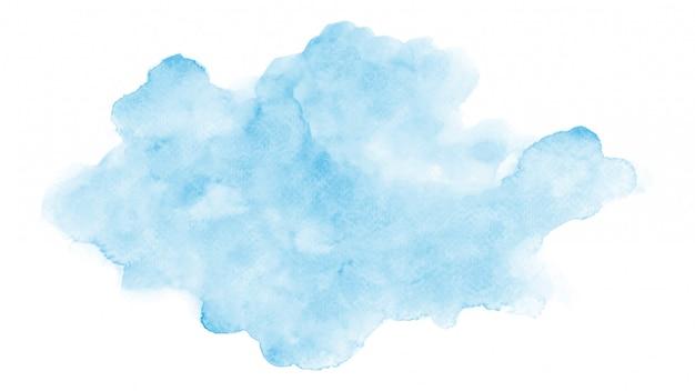 Streszczenie akwarela niebieska chmura
