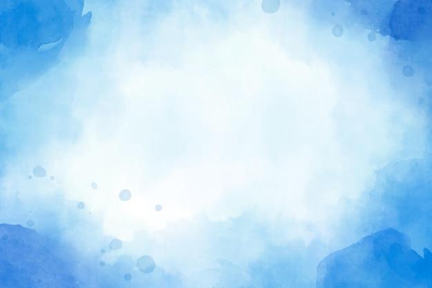Streszczenie Akwarela Niebieskie Tło Premium Wektorów