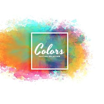 Streszczenie akwarela plama tle w wielu kolorach