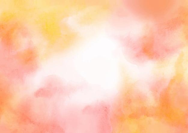 Streszczenie akwarela pomarańczowe tło