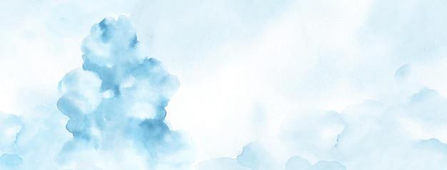 Streszczenie akwarela ręcznie malowane na tle. jasnoniebieskie plamy akwarelowe tekstura wektorowa jest idealna do elementu dekoracyjnego nagłówka, okładki lub banera letniego, pędzla zawartego w pliku.