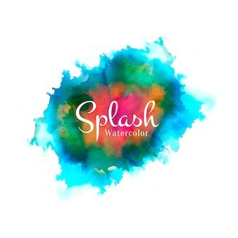 Streszczenie akwarela splash kolorowy design