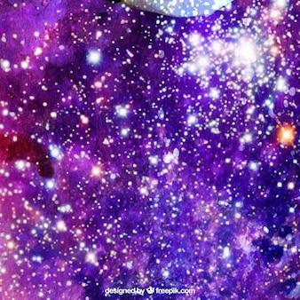 Streszczenie akwarela wszechświat jasne tło