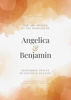 Streszczenie akwarela zaproszenie na ślub
