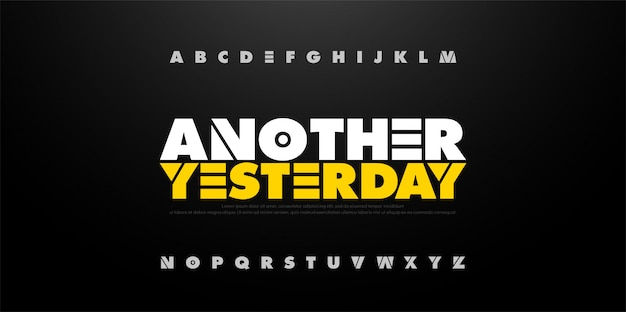 Streszczenie alfabetu pogrubioną czcionką zabawy. sport typograficzny