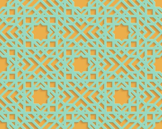 Streszczenie arabski bezszwowy wzór geometryczny. arabski ornament. islamski projekt. styl orientalny.