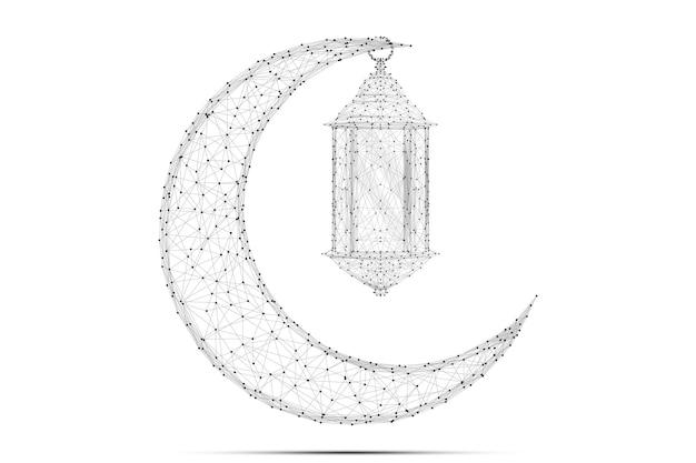Streszczenie arabski księżyc i latarnia wielokątne