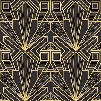 Streszczenie art deco bezszwowe nowoczesne płytki wzór