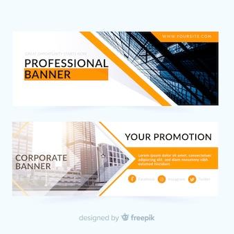 Streszczenie banery biznesowe