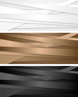 Streszczenie banery korporacyjne z paskami. projekt wektorowy