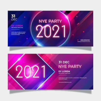 Streszczenie banery partii nowego roku 2021