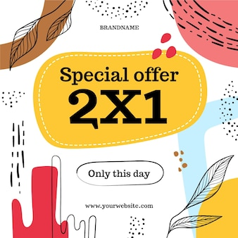 Streszczenie banner promocyjny oferty specjalnej