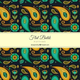 Streszczenie batik kształtów wzorca