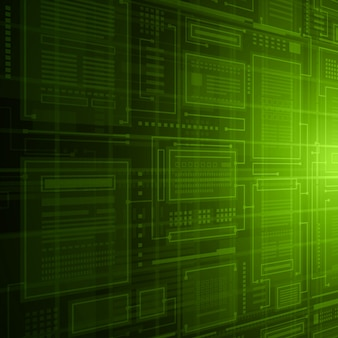 Streszczenie bazy danych technologii zielone tło połączenia.