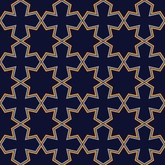 Streszczenie bezszwowe ciemny geometryczny wzór w stylu arabskim