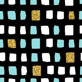 Streszczenie bezszwowe tło. białe, niebieskie i złote elementy. abstrakcyjny wzór na kartkę noworoczną, zaproszenie na boże narodzenie, nadruk torby, tekstylia, reklama sprzedaży shope itp.