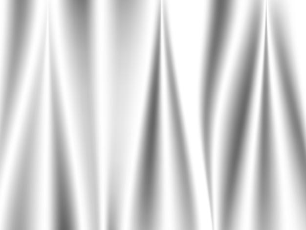 Streszczenie biała jedwabista tkanina satynowa, materiałowa tkanina z drapowanymi falowanymi fałdami z miękkimi falami