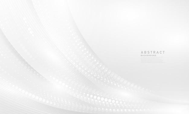 Streszczenie białe i szare tło nowoczesny projekt tła fali półtonowej