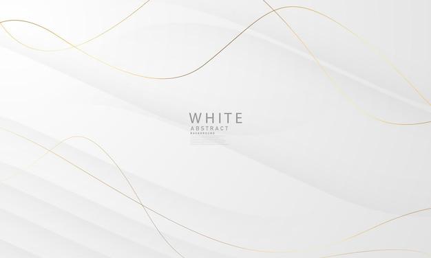 Streszczenie białe i szare tło z przepiękną dekoracją złotą linię. luksusowy.