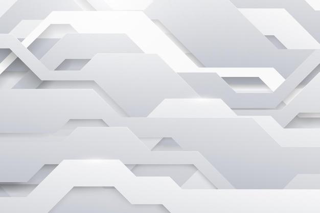 Streszczenie białe linie i kropki łączą się z futurystycznym tłem. połączenie technologii internetowej z danymi