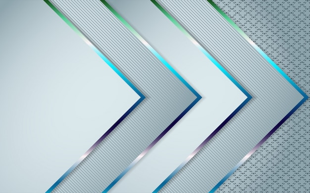 Streszczenie białe nakładające się warstwy tło połączenie z kolorową dekoracją linii