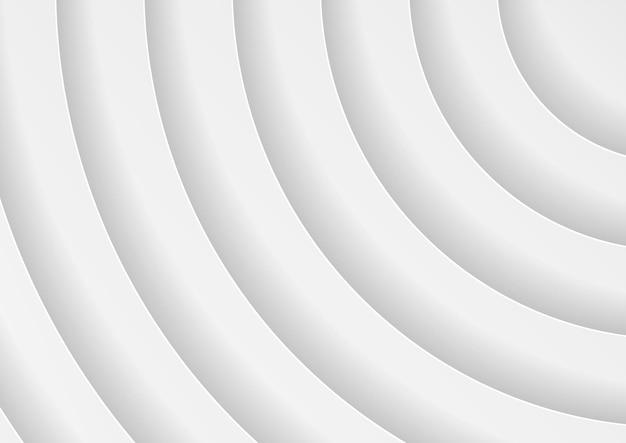 Streszczenie białe tło koła w stylu papercut, geometryczne tło w kolorze białym i szarym