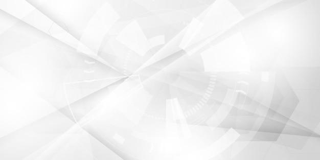 Streszczenie białe tło plakat z dynamiczną falą technologia sieciowa
