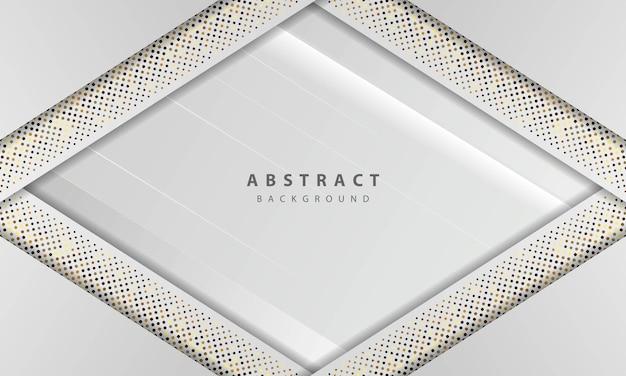 Streszczenie białe tło wektor. elegancka koncepcja wektor projektu. tekstura z ozdobą elementu srebrny błyszczy kropki.