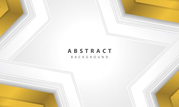 Streszczenie białe tło wektor z warstwą złota strzałka. elegancka konstrukcja w kształcie złotej strzałki.