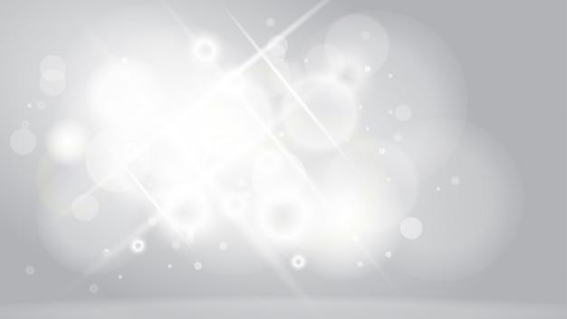 Streszczenie białe tło z efektem światła bokeh.