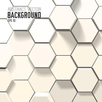 Streszczenie białe tło z geometrycznymi sześciokątami