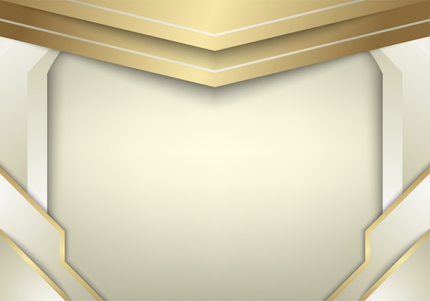 Streszczenie białe tło złoto połączyć z efektem świetlnym.