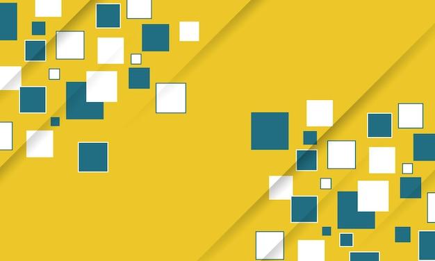 Streszczenie białe żółte i zielone trójkąty geometryczne tło ilustracji wektorowych