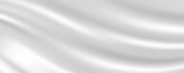 Streszczenie białej tkaniny jedwabnej tekstury. fale mleka na tle