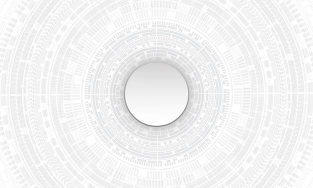 Streszczenie biały technologii cyber obwód koło futurystyczne tło