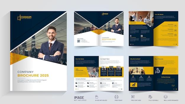 Streszczenie biznes broszura projekt wektor premium