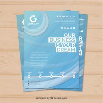 Streszczenie biznes broszura w rozmiarze a5