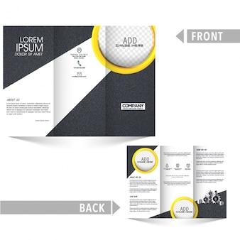 Streszczenie biznes broszura z żółtymi kółkami