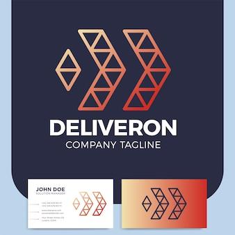 Streszczenie biznes dostawy lub logistyczne projektowanie logo ikona