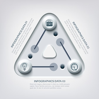 Streszczenie biznes infografika biznesowa z trójkąta trzech kroków