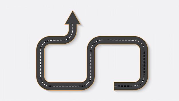 Streszczenie biznes infografiki w postaci drogi samochodowej z oznaczeniami dróg.