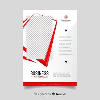 Streszczenie biznes ulotka szablon