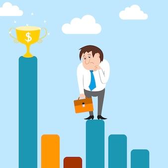 Streszczenie biznesmen charakter ma trudności z karierą